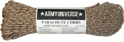 Army Universe Desert Camo 550LB Military Nylon Paracord Rope 100 Feet ()