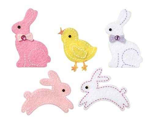 Darice Felties Felt Stickers - Easter Bunny and Chicks - 16 Pieces