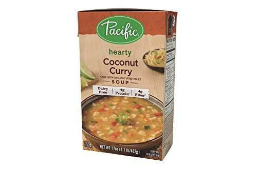 Pacific Foods Curry Soup Made With Organic Coconut, 17-Ounces, 12-Packs