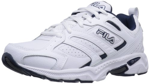 Fila Men's Capture Running Shoe,White/Peacoat/Metallic Silver,9 M US