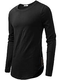 """<span class=""""a-offscreen"""">[Sponsored]</span>Men's Crew Neck Long Sleeve Cotton T-Shirt"""