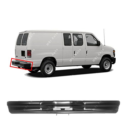 MBI AUTO - Primered, Steel Rear Bumper Face Bar for 1992-2014 Econoline E150 E250 E350 Van 92-14, - 96 Van Econoline Ford