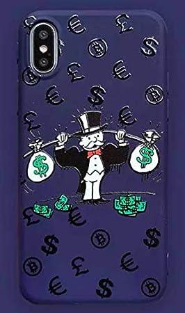 Funda para iPhone X/iPhone XS Monopoly Billet Dollars 100 $ Argent USA Azul Carcasa de Moviles Caso Silicón: Amazon.es: Electrónica