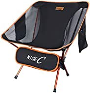 NiceC Ultralight Portable Folding Camping Backpacking Chair Compact & Heavy Duty Outdoor, Camping, BBQ, Be