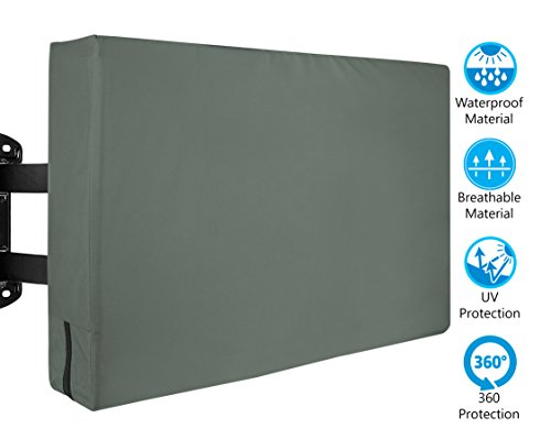 Best Price Outdoor TV Cover - Weatherproof Protector from Rain, Wind, Sun, UV, Dust - Flat TV, LCD, ...