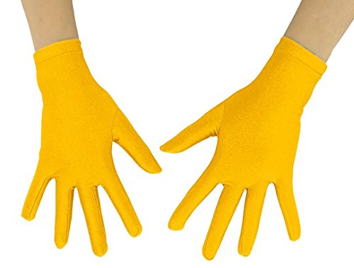 Short Yellow Gloves (Women's Men's Adult 10