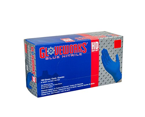 AMMEX GWRBN44100 BX Nitrile Gloveworks Disposable