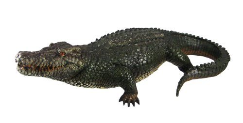 - Things2Die4 21 Inch Alligator Statue Gator Garden Outdoor Figure