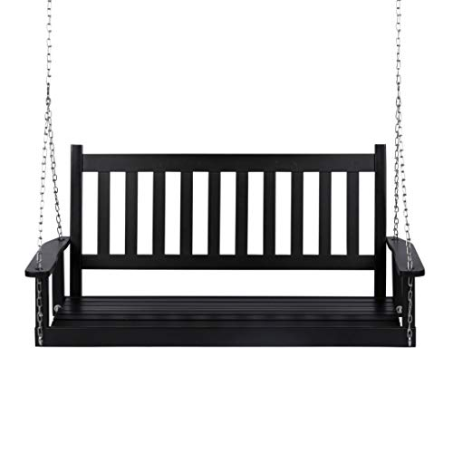 Shine Company 4216BK Maine Porch Swing, Black