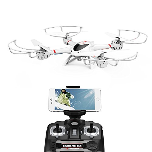 Drone With Wifi Camera Live Video Headless Mode RTF RC Quadcopter made our list of Unique Camping Gifts For Men