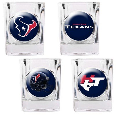 NFL Houston Texans Four Piece Square Shot Glass Set (Individual (Square Shot Glass Nfl Football)