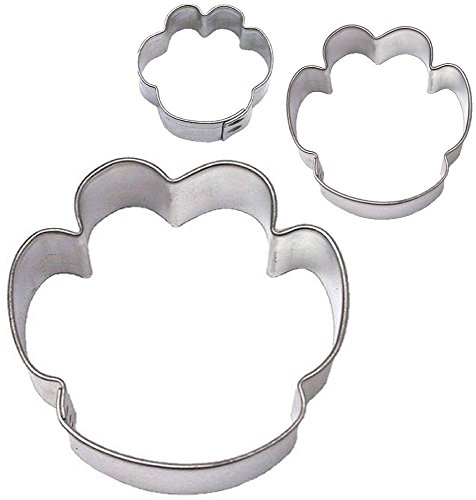(3 Piece Dog Cat Tiger Paw Paw print Cookie Cutter Set NEW! Kitty Treats)