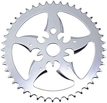 BICYCLE CHAINRING SKULL HEAD 44t 1//2 X 1//8 RED//BLACK CRUISER LOWRIDER BIKE