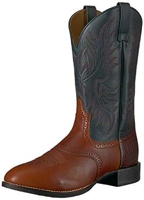 Ariat Men's Heritage Stockman Western Boot, Cedar/Green, 10 B US