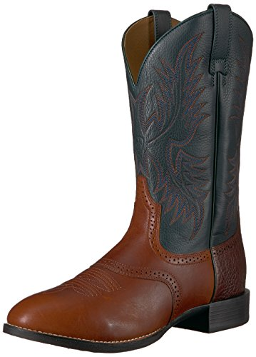 Ariat Mens Heritage Stockman Boot Occidentale, Noce Moscata Nativa, 7 D Us Cedar / Verde