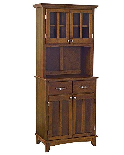(Home Styles 5001-0072-72 Buffet of Buffet 5001 Series Medium Cherry Wood Top Buffet Server and Hutch, Medium Cherry, 29-1/4-Inch)