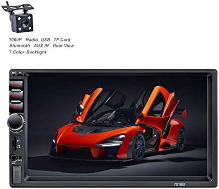 X-REAKO radio de coche 2 DIN Car Stereo de 7 Pulgadas HD Pantalla Táctil Bluetooth Manos Libres Radio Auto FM / USB/AUX IN Mirror Link con cámara de visión Trasera: Amazon.es: Electrónica