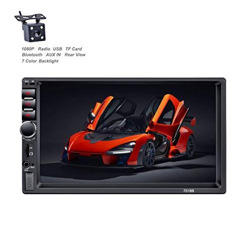 🥇 X-REAKO radio de coche 2 DIN Car Stereo de 7 Pulgadas HD Pantalla Táctil Bluetooth Manos Libres Radio Auto FM / USB/AUX IN Mirror Link con cámara de visión Trasera