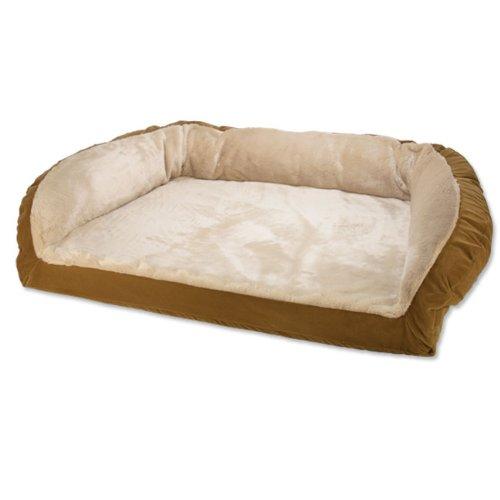 Faux-fur Deep Dish Spun-polyester Dog Bed / Xlarge Dogs 120+ Lbs., Light Brown,, My Pet Supplies