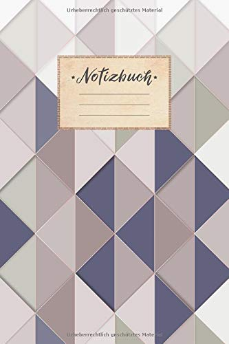 Notizbuch: DIN A5 Format, 100 linierte Seiten, glänzendes Softcover-Design, weißes Papier | Notizheft - Tagebuch - Journal - Planer | Cover: Mosaik ... Muster Farbverlauf Dreiecke (German Edition) (Farbverlauf Braun)