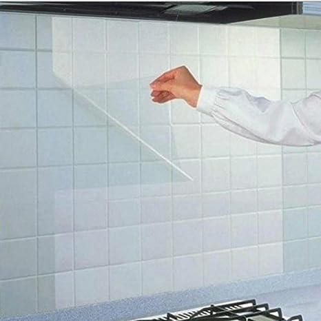 Image ofKicode Transparente Útil DIY Universal Pegatinas de Cocina a Prueba de Aceite Decoración del hogar Limpiador removible