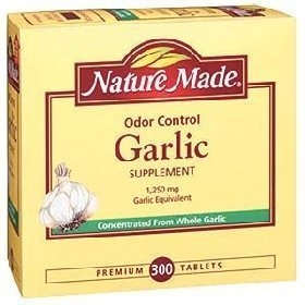 Nature Made Odor Control Garlic 1,250 mg Garlic Equivalent - 300 Tablets ()