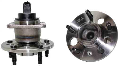 Assembly Riviera Buick Axle (Brand New (Both) Rear Wheel Hub and Bearing Assembly Buick, Cadillac, Chevy, Pontiac 5 Lug W/ABS (Pair) 512003 x 2)