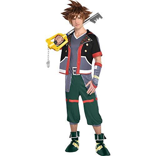 Kingdom Hearts Sora Halloween Cosplay (Party City Sora Halloween Costume for Men, Kingdom Hearts, Standard, Includes)
