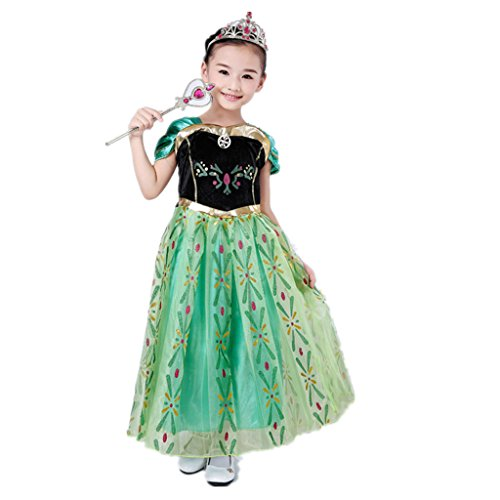 DreamHigh Little Girls Princess Cosplay Costume Dress 2T Green ()