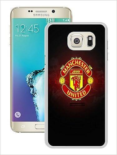 Amazon Com Manchester United Logo Wallpaper White Samsung Galaxy S7 Edge Case 7437663422307 Books