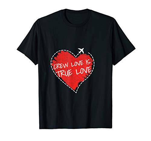 Stewardess Shirt: Crew Love I Costume for girls & gift Idea