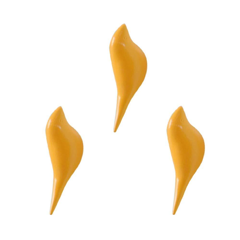 resina soporte de pared gancho percha soporte en diseño de pájaros para perchero sombrero toalla bolsa,naranja brillante (2 unidades),