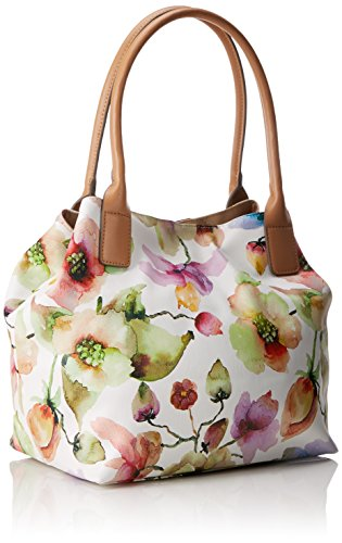 Tom Tailor - Miri Flora, Borse Tote Donna Bianco (Weiss)