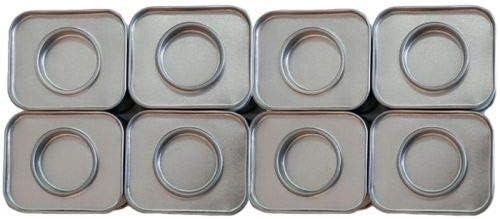 8 petites bo/îtes m/étalliques rectangulaires 6 x 5 x 4 cm