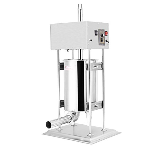 FoodKing Sausage Filler Sausage Stuffer Commercial Electric Sausage Maker 12L 25LB Vertical Restaurant Grade Stainless Steel Meat Filler (Electric Sausage Filler 12L / 25LB)