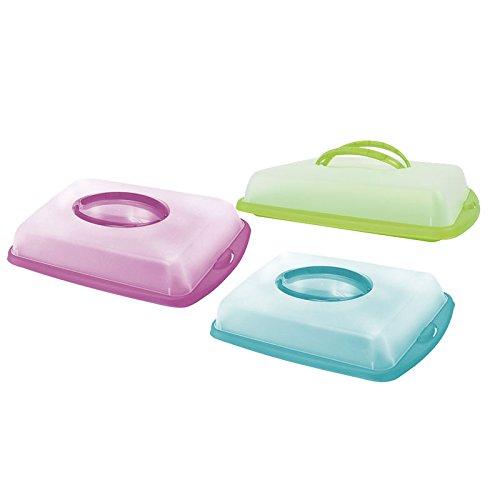 Transportbehälter Kuchen Behälter Tortenhaube Kuchenhaube Container pink