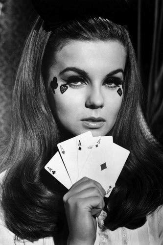 Ann-Margret stunning image holding 4 Aces Playing cards 24x36 Poster from Silverscreen