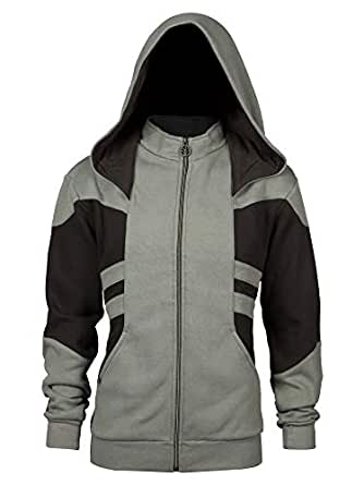 Overwatch Hooded Jacket Reaper Wraith Phantom Logo Negro Gris: Amazon.es: Ropa y accesorios