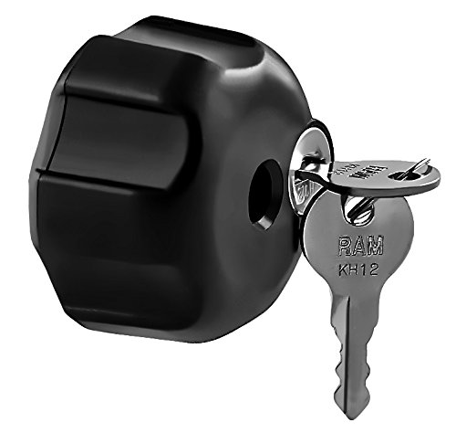 Ram Mount Locking Knob with 1/4-Inch-20 Brass Hole for B Size Arms (Black)