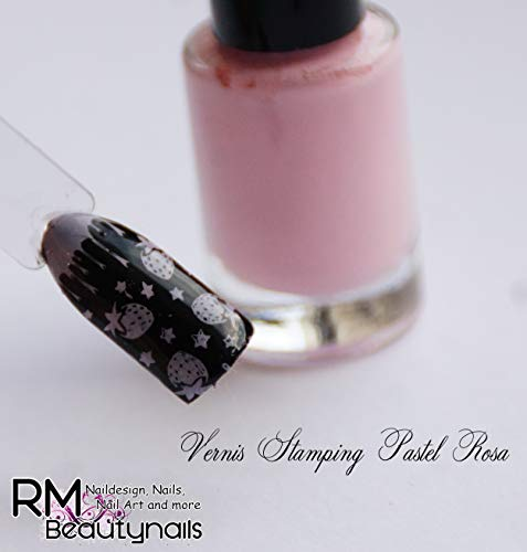 Rm Beautynails Stamping Nail Varnish Pastel Set 6 X 4 Ml Pink Purple Blue Lilac Mint Yellow