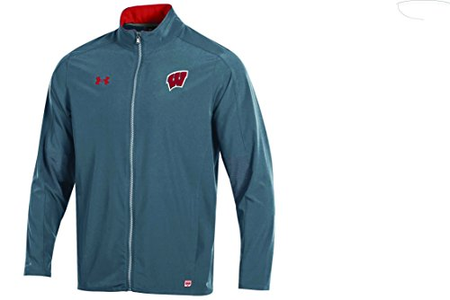 Under Armour NCAA Wisconsin Badgers Adult Men NCAA Men's Sideline Warm Up Jacket, X-Large, Flawless (Ncaa Under Armour)