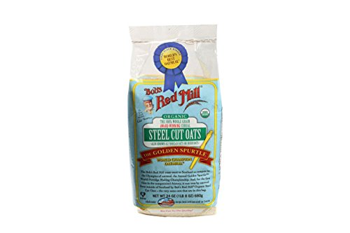 Bob's Red Mill Organic Steel Cut Oats, 24 Oz (4 Pack)