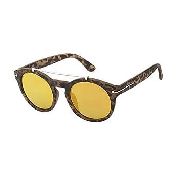 11fe7e033a Chic-Net Gafas de sol redondas Panto 400 UV superior del ajuste soporte de  metal de color amarillo refleja: Amazon.es: Ropa y accesorios