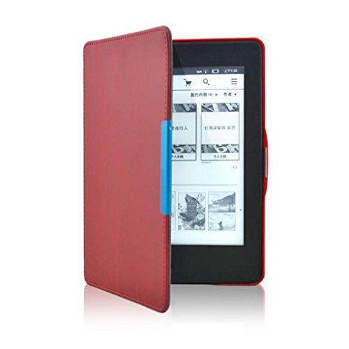 Price comparison product image Kindle Paperwhite, LUNIWEI Leather Smart Cover Case