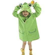 Child Kids Cute Cartoon Waterproof Hood Raincoat Poncho Jacket Fit for Age 2-8