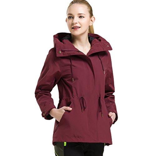 Sportwear Randonnée Imperméable Couleur Rouge Outdoor Trekking Femme Blouson Veste Camping Unie Vin Baymate Manteau Pour Chaude qOCtxPtwS