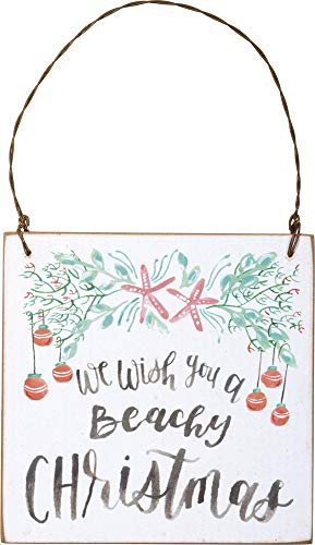 Primitives by Kathy We Wish You a Beachy Christmas Hanging Ornament for $<!--$9.99-->
