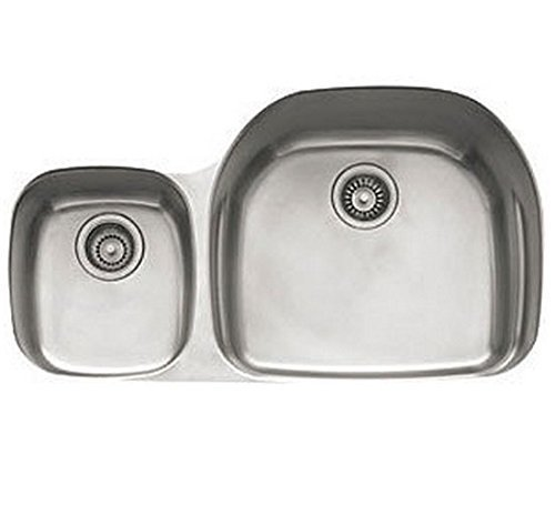(Franke PRX120LH Prestige Plus 36-Inch Offset to the Left Double Bowl Undermount Kitchen Sink by Franke)