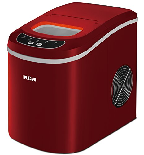 26 Lbs Counter Top Ice Maker, Red