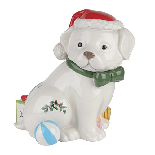 Spode Christmas Tree Puppy Cookie Jar